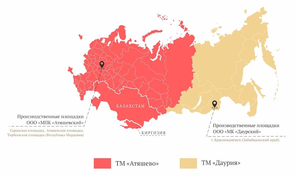 Мясопереработка Атяшево. Карта.